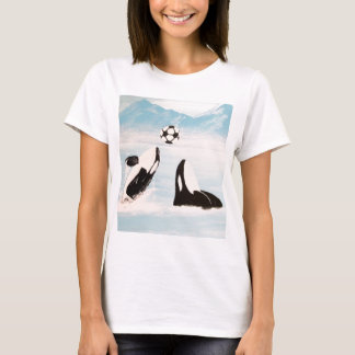 PLAYFUL ORCA WHALE WHALES PLAYING SOCCER T-Shirt