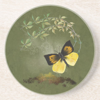 Playful Painted Butterfly- Coaster