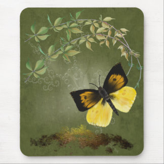 Playful Painted Butterfly-  Mousepad