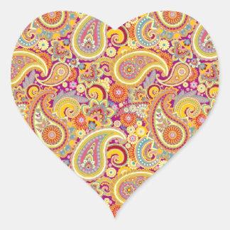 Playful Paisley Heart Sticker