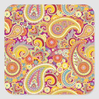 Playful Paisley Square Sticker