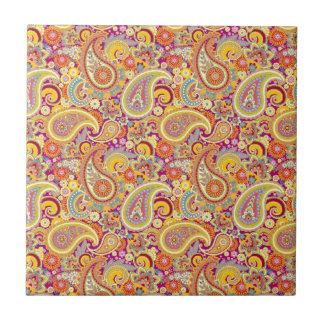 Playful Paisley Small Square Tile