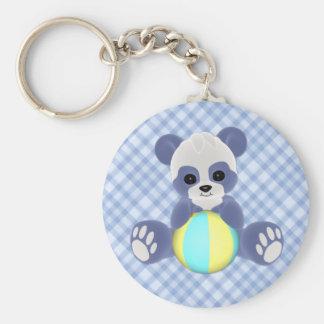 Playful Panda Baby Boy Keychain