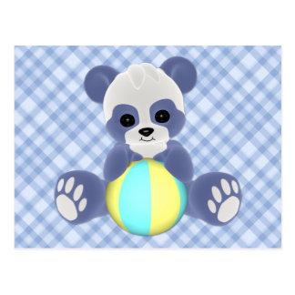 Playful Panda Baby Boy Postcard