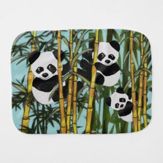 Playful Panda Bear Baby Burp Cloth