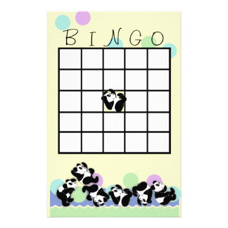 Playful Panda Bingo Stationery Design