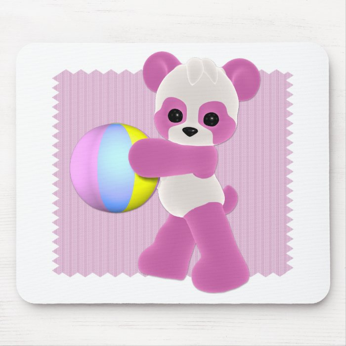 Playful Panda Girl Mousepad