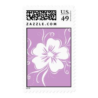 Playful Pansy - reverse lilac Postage