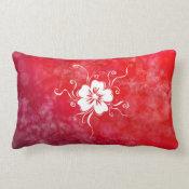 Playful Pansy - reverse rock-me-red Lumbar Pillow