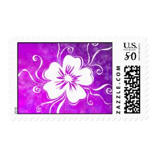 Playful Pansy - reverse vivid violet Postage