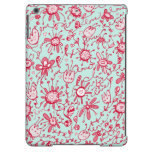 Playful Pink & Blue Flowers iPad Air Case