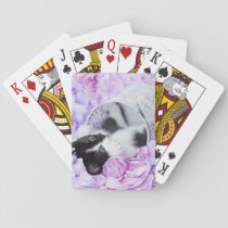 "Playful ""Pippa"" Purple Floral Playing Cards"