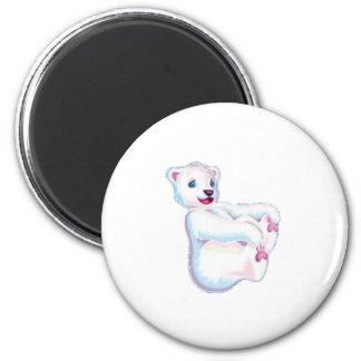 Playful Polar Bear Magnet