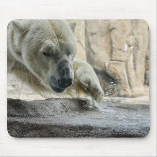 Playful Polar Bear Mouse Pad