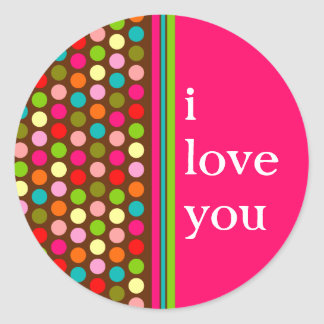 Playful Polka Dots Classic Round Sticker