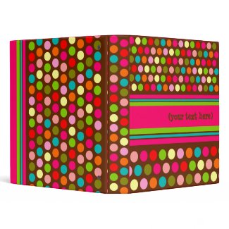 Playful Polka Dots Customizable Binder binder