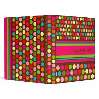 Playful Polka Dots Customizable Binder binder