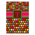 Playful Polka Dots Monogram Notecard Stationery Note Card
