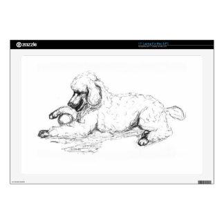 Playful Poodle Laptop Decals