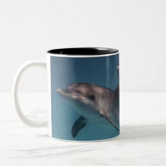 Playful Pose Two-Tone Coffee Mug