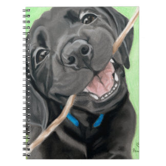 Playful Pup Black Lab Puppy Notebook