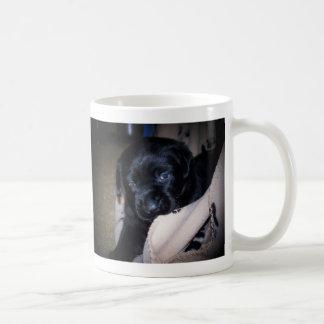 playful pup coffee mug