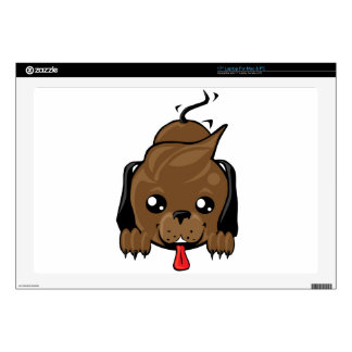 "Playful puppy dog 17"" laptop skin"