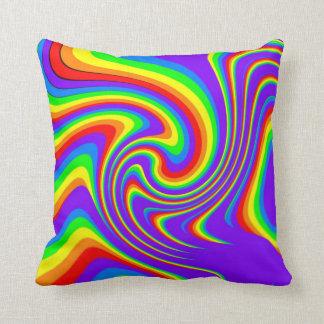 Playful Rainbow Design Throw Pillow