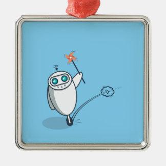 Playful Robot Metal Ornament