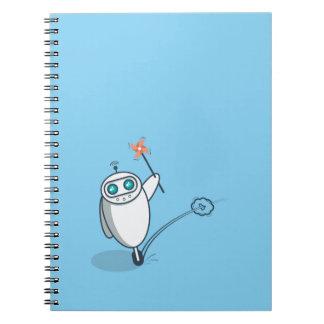 Playful Robot Spiral Notebook