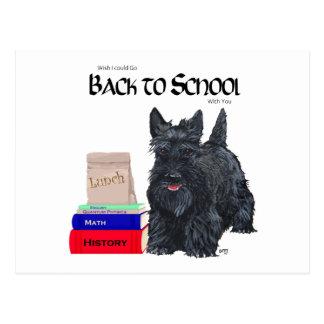 Playful Scottie Back to School Postcard