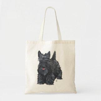 Playful Scottish Terrier Budget Tote Bag