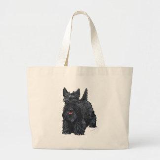 Playful Scottish Terrier Jumbo Tote Bag