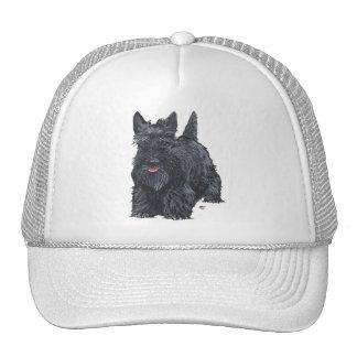 Playful Scottish Terrier Trucker Hat