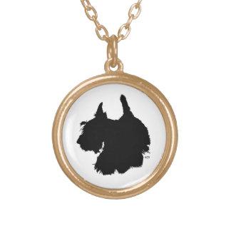 Playful Scotty Dog Gold Plated Necklace