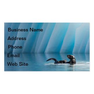 Playful Sea Otter Business Card Template