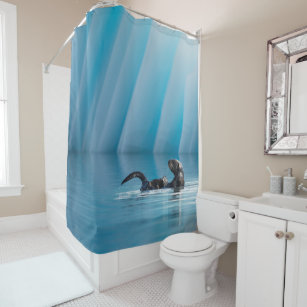 Playful Sea Otter Shower Curtain