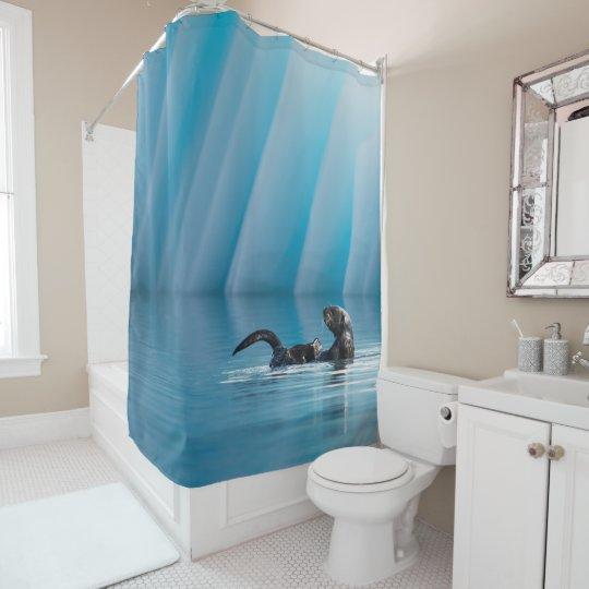 Playful Sea Otter Shower Curtain