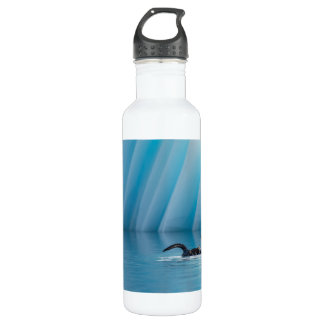 Playful Sea Otter Stainless Steel Water Bottle