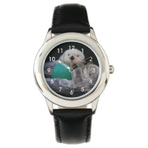 Playful Sea Otters Photo Wristwatch