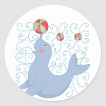 Playful Seal Tshirts and Gifts Classic Round Sticker