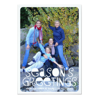 Playful Season's Greetings Big Photo Card