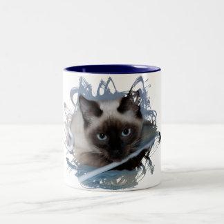 Playful Siamese Two-Tone Coffee Mug