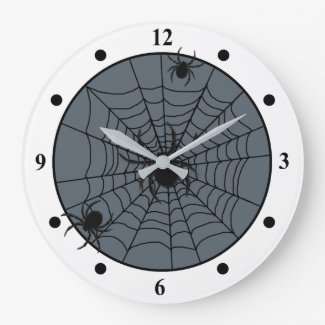 Playful Spider Web with Small Spiders Custom Color