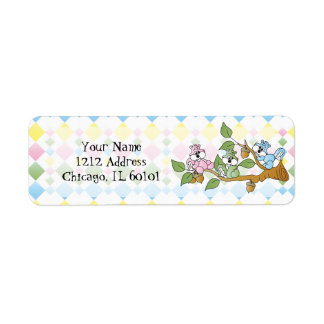 Playful Squirrel Baby Shower Theme Label