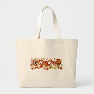Playful Squirrel Jumbo Tote Bag