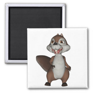 Playful Squirrel Magnet