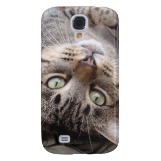 Playful Striped Feral Tabby Cat Samsung Galaxy S4 Cases