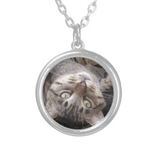 Playful Striped Feral Tabby Cat Necklace