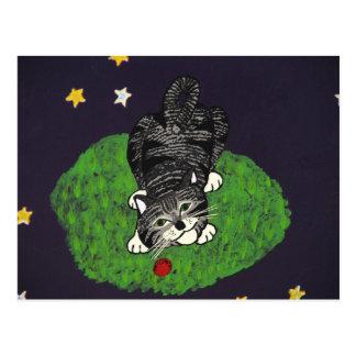 Playful Tabby Kitten Postcard
